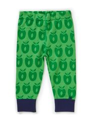 Baby Leggins Wool Apples - Apple Green