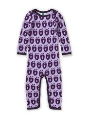 Body Suit Wool Apples - Lt. Purple
