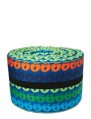 Bed Bumper. Multi apples - Blue