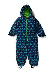 Snowsuit, 1 zipper - Turquise