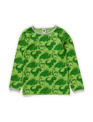 T-shirt LS. Dinosaur - Apple Green