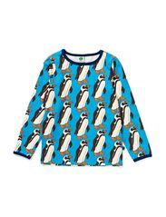 T-shirt LS. Pinguin - Turquise