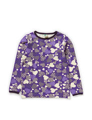 T-shirt LS. Patchwork Hearts - Purple