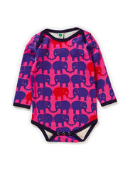Body LS. Twin elephants - Pink