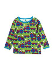 Baby T-shirt LS. Tractor - Apple Green