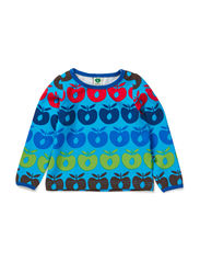 Baby T-shirt LS. Multi apples - Turquise