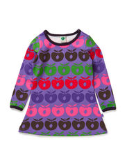 Baby Dress LS. Multi apples - M. Purple