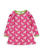 Baby Dress LS. Deer Girl - Pink