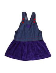 Baby Dress NS. Denim/Velvet - Purple