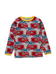 T-shirt LS, Firetruck - Grey Mix
