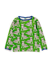 T-shirt LS, Leopard - Apple Green
