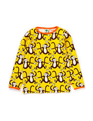 T-shirt LS, Monkey - Yellow