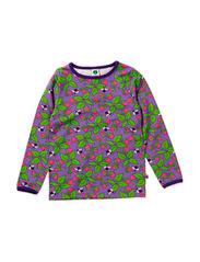 T-shirt LS, Strawberries - M. Purple