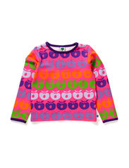 T-shirt LS, Multi Apples - Pink