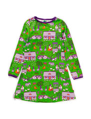 Dress LS, Farm - Apple Green