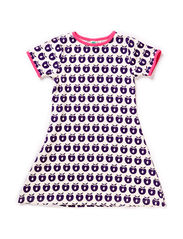 Dress SS, Small Apples - Purple