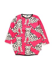 Sweatshirt Dress, Leopard - Pink