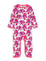 Body Suit, Circus Elephants - Pink