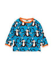 Baby T-shirt LS, Monkey - Turquise