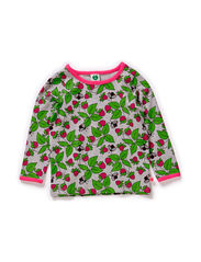 Baby T-shirt LS, Strawberries - Grey Mix