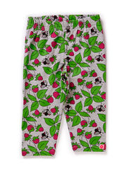 Baby Leggins, Strawberries - Grey Mix
