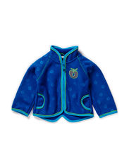 Baby Fleece zipper, Embossed - Blue