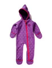 Baby Fleece Suit, Embossed - M. Purple