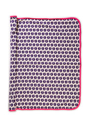 Baby blanket, Small Apples, 85x105 cm - Purple