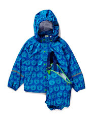 Rainwear set w, Apples - Blue