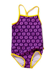 Swimwear, Suit, Apples - Purple