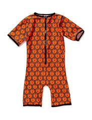 Swimwear, Suit SL, Apples - Grey/Orange