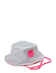 Baby Sun Hat. Stripes - Pink
