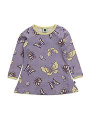 Dress LS. Butterflies - LT. PURPLE