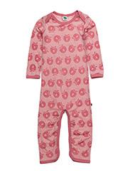 Body Suit LS Merino Wool. Apples - BLUSH