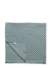 Burp Cloth. GOTS - STONE BLUE