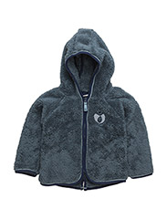 Baby Fleece with hood & zipper - BLUESTONE