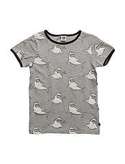 T-shirt with shark - GREY MIX