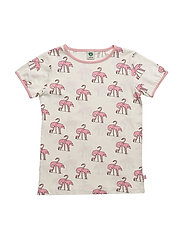 T-shirt with flamingos - BRIDAL ROSE