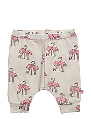 Jersey pants with flamingos print - BRIDAL ROSE