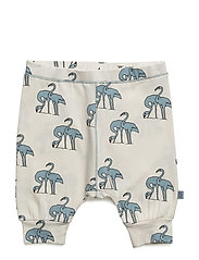 Jersey pants with flamingos print - STONE BLUE