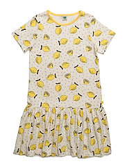 Dress with lemon print - CREAM