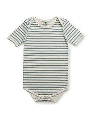 Body SS with stripes - STONE BLUE
