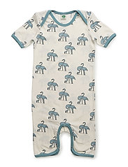 Body suit with flamingos - STONE BLUE