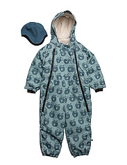 Snowsuit, 2 zipper - STONE BLUE