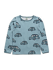 T-shirt with car - STONE BLUE