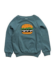 Sweat shirt with burger - BLUESTONE