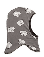 Reversible hood with polarbear and penguin - WILDE DOVE