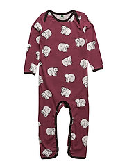 Body suit with polarbear - MAROON