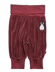 Velvet pants for baby - MAROON