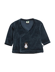 Velvet cardigan for baby - MAJOLICA